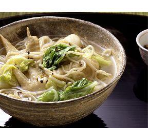 白菜と手羽先のあっさりスープそば