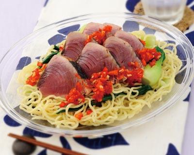 野菜たっぷり海鮮冷やし中華
